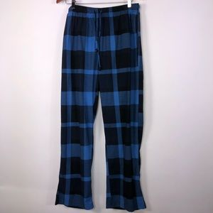 🌴NAUTICA men's blue & Black check sleepwear Large